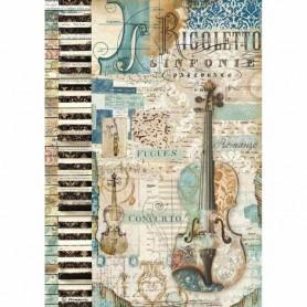 Papel de Arroz A4 Music Violín Stampería
