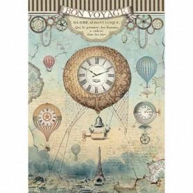 Papel de Arroz A4 Voyages Fantiques Globo Stampería
