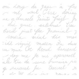 Tela Algodon Americano Blanco con Texto en Plata. Venta 10 en 10cm