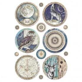 Papel de Arroz A4 Cosmos Esferas Stampería