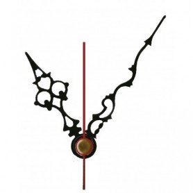 Aguja Metalica Reloj Negra 72x100mm.