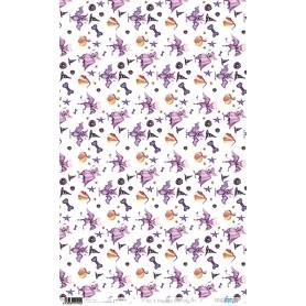 Papel De Arroz Hocus Pocus Purple Bats 33x54cm
