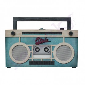 Kit Caja Radio Vintage 29x15x8cm