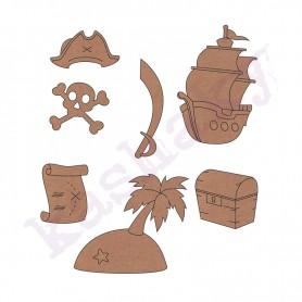 Siluetas DM Conjuntos Accesorios Piratas 6cmm Aprox.