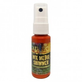 Spray Mix Media Shimmer Amarillo Naranja Ref.MMS04