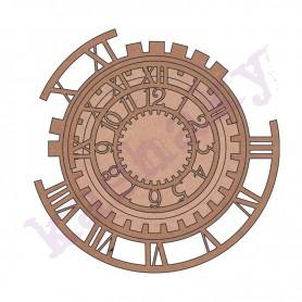 Cojunto DM Piezas Mecanismo Reloj Steampunk 3 Und. 31x33cm