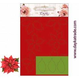 Flores de Foamiran Pinsettia Roja 27XL