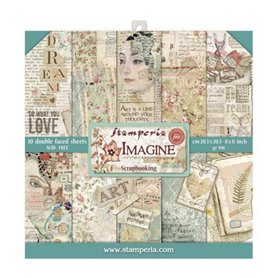 Coleccion Imagine 10 papeles Scrapbooking 20,3x20,3cm dos caras