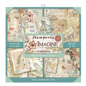 Coleccion Imagine 22 papeles Scrapbooking 30x30cm dos caras
