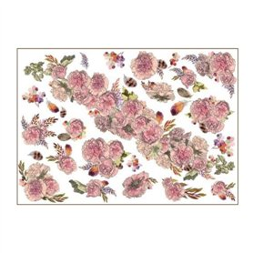 Papel de arroz Colección Romantic Steampunk Flores,35x50cm. Ref. TCR55