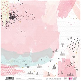 Papel Con Manchas y A A Loco Collection Scrapbooking 30x30cm dos caras