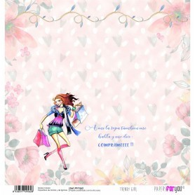 Papel Trendy Girl ComprasCollection Scrapbooking 30x30cm dos caras