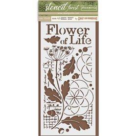 Stencil Mix Media Flor de la Vida 15x25cm