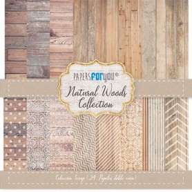 Coleccion Basicos Natural Woods 17x17cm Scrapbooking