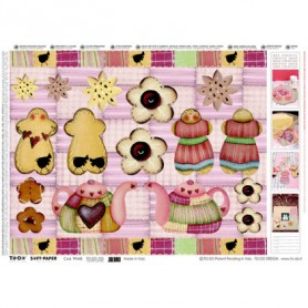 Papel TO-DO Decoupage Galletas y Teteras 50X70 cm. Ref. 225