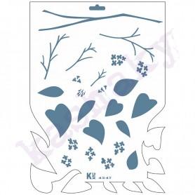 """Plantilla Stencil DIN A4 """"Efecto Lilas"""" 210x297 mm"""