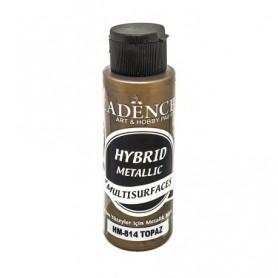 Pintura Acrílica Multisuperficie Hybrid  Metálica Cadence Topaceo Ref. HM814
