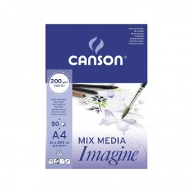 Block A4 Canson Mix Media Imagine 50hojas 200gr