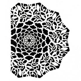 Plantilla Stencil Art & Hobby Paints Mandala cortada 15x20cm