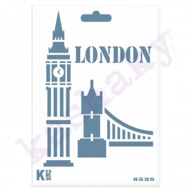 "Plantilla STENCIL DIN A6 ""Big Ben London"""