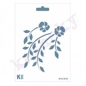 """Plantilla Stencil DIN A6 """"Hojas y flores"""""""