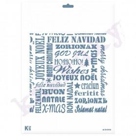 Plantilla STENCIL DIN A4 «Nube letras navidad»