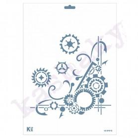 Plantilla Stencil DIN A4 «Mecanismos»