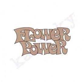 PALABRA «FLOWER/POWER» 18x9 cm