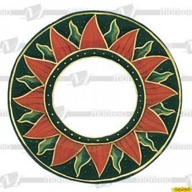 Espejo Redondo Sol (Sin Decorar) Ext.30X30 Int.14X14 Cm