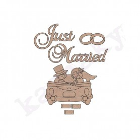 conjunto «just married» 8×6´5 cm