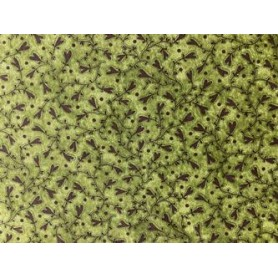 Tela 100%algodon patchwork Flores de Corazones f/verde  Anchura 1,10 cm. Venta de 10 en 10 cm