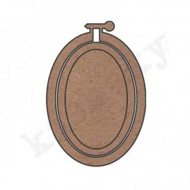 bastidor bordar ovalado (1 pieza)