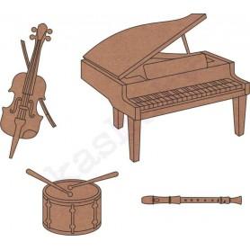 conjunto instrumentos de música