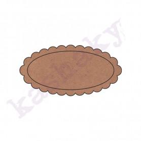 ovalo con ondas 10x5 cm
