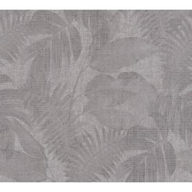 Papel Empapelar New Walls Colección Cosy & Relax Hojas y fondo Gris. (medidas 10,05x0,53m)