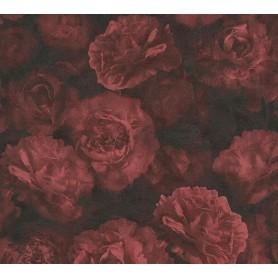 Rollo Papel Empapelar New Studio 2.0 Colección Mia Rosas Tonos Rojos (10,05x0,53m)