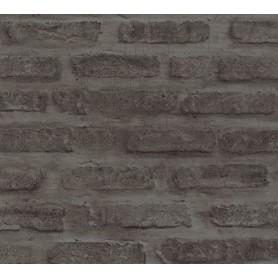Rollo Papel Empapelar Loft Living Ladrillos Gris Oscuro (10,05x0,53m)