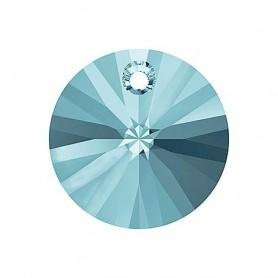 Colgantes Disco de Cristal Xilion Swarovski Aquamarine 8mm.