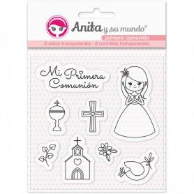 Pack 8 Sellos Comunion Niña de Anita y su Mundo