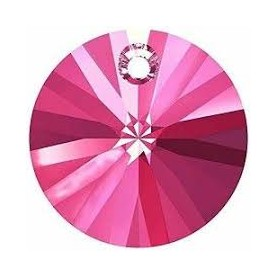 Colgantes Disco de Cristal Xilion Swarovski Rose 6mm.