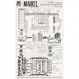 Sellos Estampar 49&MARKET Ticket Express 9x13,5cm