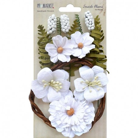Flores Papel 49&MARKET Seaside Blooms Cotton