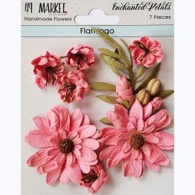 Flores Papel 49&MARKET Enchanted Petals Flamingo