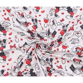 Tela patchwork 100% Algodon Mickey And Friends 1,50m. Ancho  Venta de 10 en 10cm