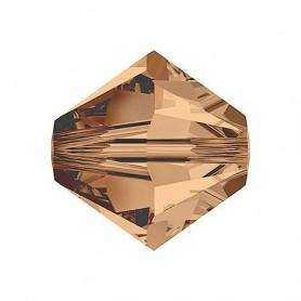 Tupi Cristal de Swarovski Light Smoked Topaz 4mm