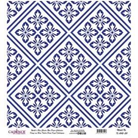 Rollo Papel de Arroz Cadence Baldosas Azules 60x60cm