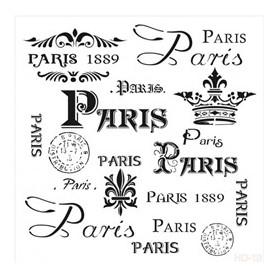 Plantilla Stencil Cadence Home Decor Paris 45x45cm