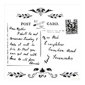 Plantilla Stencil Cadence Home Decor Post Card 45x45cm
