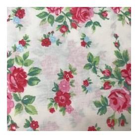 Tela algodon patchwork Ramos Flores  Venta de 10 en 10cm