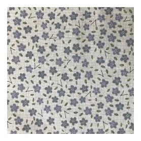 Tela algodon patchwork Flores Azules  Venta de 10 en 10cm